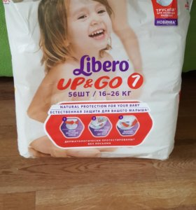 Подгузники Libero Up & Go 7 (16-26 кг) 56 шт.