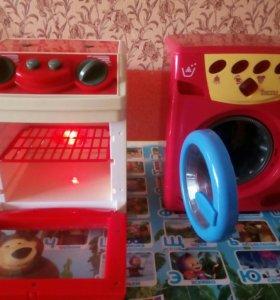Продам детские игрушки (стир.машинка и печь)