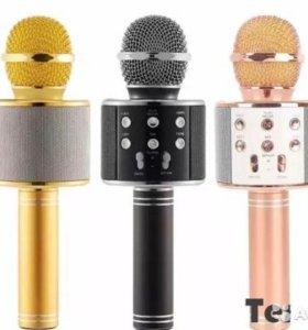 Блютус караоке микрофон со встроенной колонкой