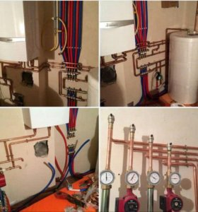 Монтаж отопления. Водопровода. Канализации
