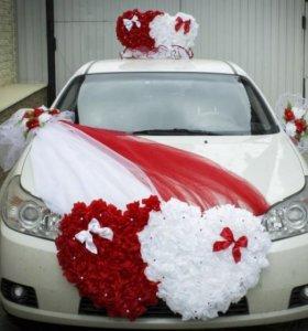 Прокат свадебных аксессуаров на авто