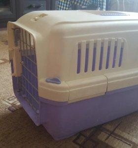 Переноска для кошек пластиковая