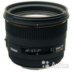 Объектив sigma AF 50 f/1.4 EX DG HSM для Nikon