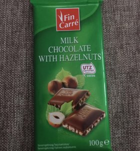 Шоколад с Орехами 100 грамм из Финляндии