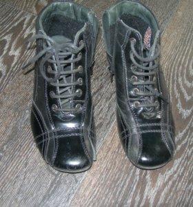 Ботиночки кожа фирма Зебра р.33