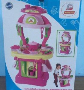 Детская игровая кухня(с посудой)