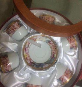 Фарфоровый набор кофейный