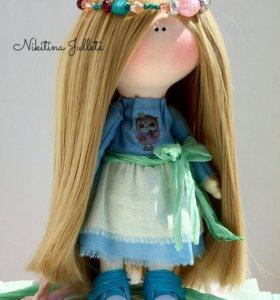Интерьерная текстильная куколка ручной работы
