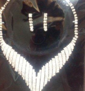 Ожерелье и серьги