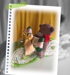Подарки из памперсов и шарики