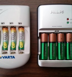 Varta 57048 и Philips SCB5380NB
