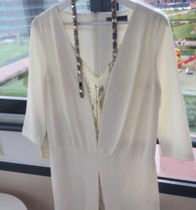 Платье белое 46