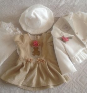 Комплект одежды для малышки( одевали один раз)