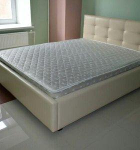 Кровать Новая с матрасом роза