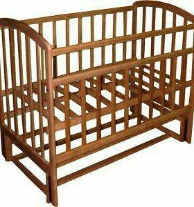 Кроватка Фея с продольным маятником и матрасом