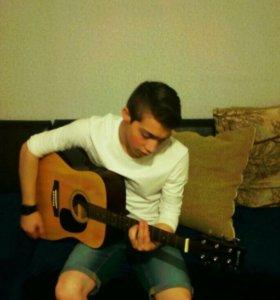 Научу играть на гитаре , акустика и классика:)