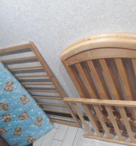 детская кровать+матрац