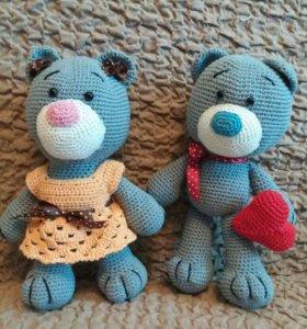 Вязанные игрушки...мишки тедди