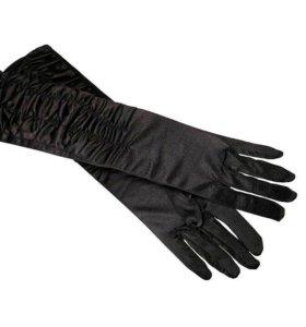 Перчатки атласные с драпировкой