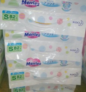Подгузники для новорожденных и с 4-8кг merries