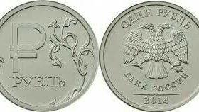 Символ рубля.