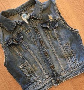 Джинсовка джинсовая жилетка