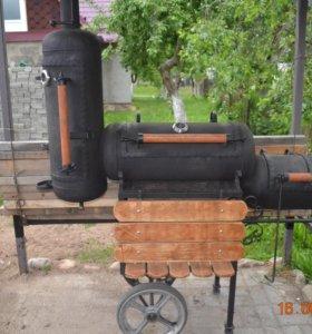 продам мангал-коптильню из газовых баллонов