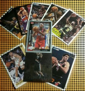 Карточки баскетболистов NBA.
