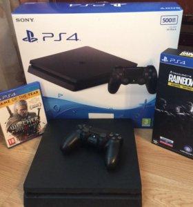 Sony Playstation 4 Slim + 2 игры