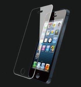 Защитные стёкла на айфоны 5,5s и 4,4s