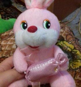 Кролик розовый