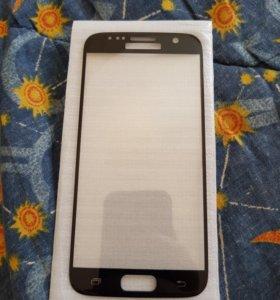 Защитное стекло на Samsung galaxy S6- S7.