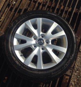 Оригинальное одно колесо на Mazda 3