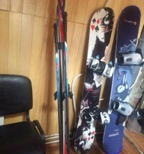Продам лыжи-800