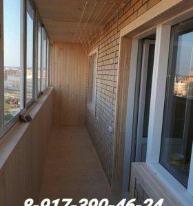 Обшивка балконов, лоджий