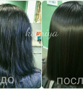 Кератиновое выпрямление-восстановление волос