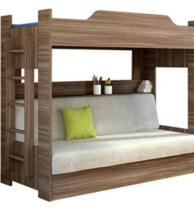 Двухъярусная кровать с диван-кроватью