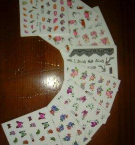 7Наклейки для ногтей (слайдеры)7 листов