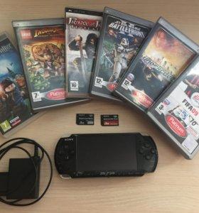 Sony PSP,2 карты памяти по 8GB,6 игр