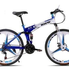 Складной велосипед BMW-X6 blue/white