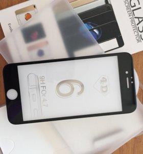 Бронестекло 4D на iPhone 6/6s