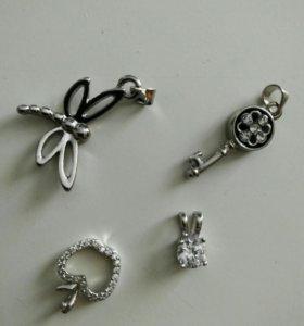 Серебряные кулончики
