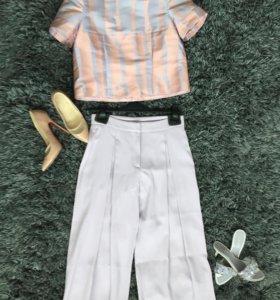 Кюлоты, юбка-брюки сиреневые, Италия,новые,S