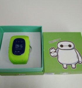 Детские часы с GPS Q50 (зелёный)
