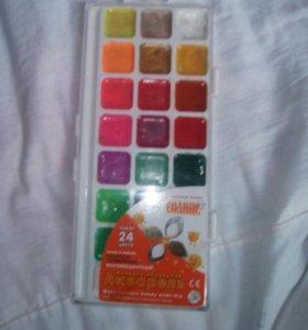 Краски детские 24 цвета