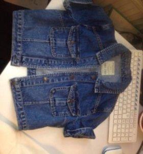 Джинсовый пиджак укороченный