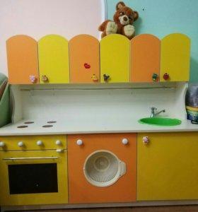 Детская кухня длина1м35см высота 1м25см