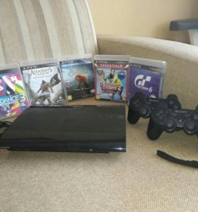 PS3 SuperSlim 500GB+PS Move + 2 джойстика