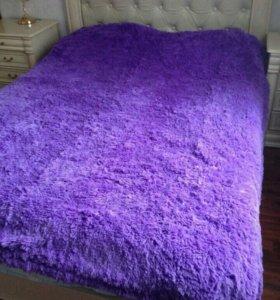 Нежно-фиолетовый плед