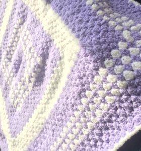 Вязаное крючком одеяльце